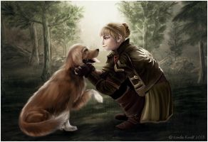 The Princess and the Dog by Isriana