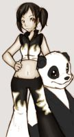 Tekken Xiaoyu and Panda by ruby-chan