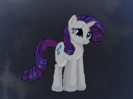 Rarity pixel art re-make by kakashio8