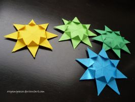 Origami Sunburst Star by OrigamiPieces
