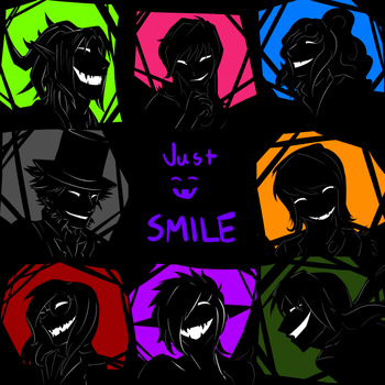 Silhouette icons 1 - Just Smile by Dogi-Crimson