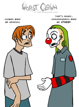 Worst Clown - Coulrophobia by grungepuppy