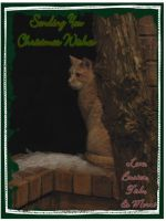 Cold Kitty Christmas Card by alienhunny