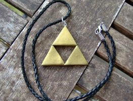 LoZ Triforce Emblem Necklace by shadowsport313