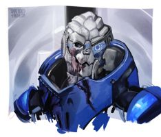 Garrus Practice by Shattered-Earth