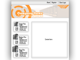 Hosting Company Layout by CoolRik