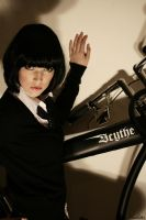 school girl at awsome bike :P by Nouk44