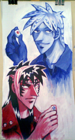 Akagi and Kaiji by emlan