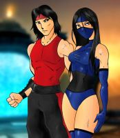 Kitana And Liu Kang by Mawnbak