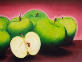 Still Life - Apples by Rahu-X
