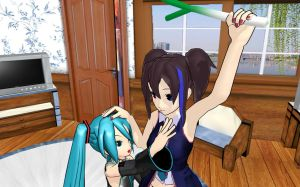 .:MMD:. Give it Back!!! D: by Miku-Nyan02