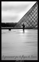 Walking by  the Louvre by Kemao