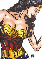 Wonder Woman Sketch Card by mmunshaw