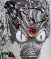 GHOULISH EYE NECKLACE by TocsinDesigns