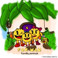 Pac-Man Family Portrait_color by darkgex