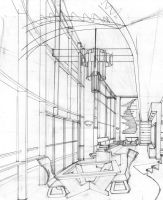 Silvanni Lofts Living Room Perspective Inked by IndyHorizon