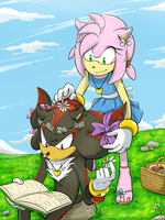 Shadow and Amy by AimyNeko