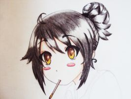 Pocky girl. by aleish
