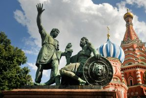 Statue of Minin and Pozharsky - Red Square by wildplaces