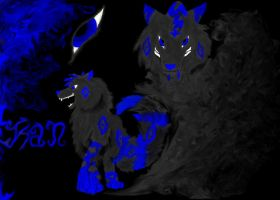 Ran the demon wolf by ToryFlores
