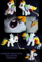 Handmade Rainbow Dash Plush--The first Version by eebharas