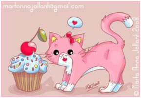 Cupcake Kitty by yuki-the-vampire