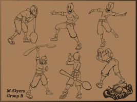 Character Posing Sheet by 0SkyerS0
