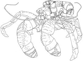 monstrous cargo crab by benthic