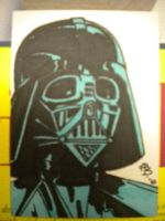 Darth Vader sketch card by Elvatron