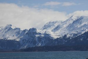 Alaska Mountains 3 by xdancingintherain