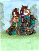 Resting with Children by HarbingerLoki