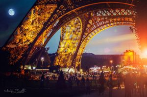 Poem of day and night - Eiffel tower by Piroshki-Photography