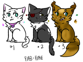 Vampire Cat Adopts [AUCTION] [OPEN TWO LEFT] by F1R3-FIRE