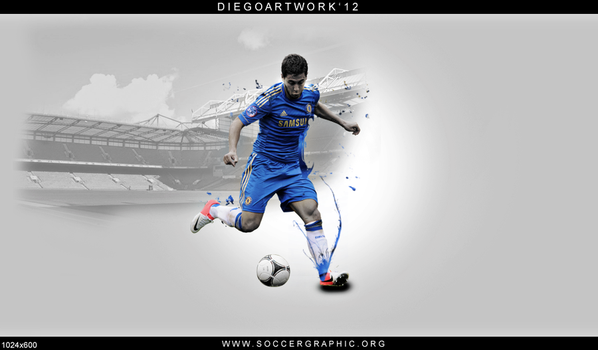 Eden Hazard Wallpaper by ElbaKMGraphic