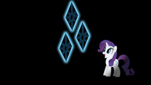 Rarity Glowing Cutie Mark Wallpaper 16:9 by alexram1313