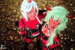 Scanty and Kneesocks by greengreencat