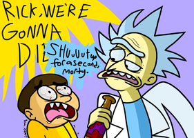 Rick and Morty by AgentBlackBlood