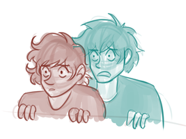 Leo and Percy, shocked by solarseptum