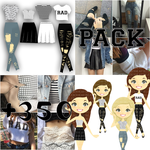 Pack de Ropa para dolls 'Pale' (+350) by iHeartBelieber