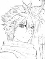 Cloud Strife sketch by EasterEgg23