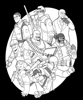 Team Fortress2 All Classes doodle by GhostN