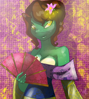 TMNT Mona Lisa: Like a lotus flower by WildRose91