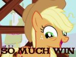 Applejack eye roll_so much win by Fundz64