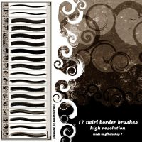Twirl Border Brushes by kuschelirmel-stock