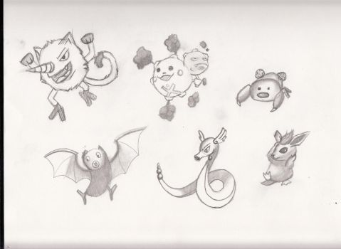 Pokemone Fusion Sketches by LuciDeVille
