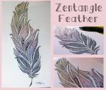 Zentangle Feather by Ejlen