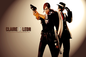 Claire and Leon for Wordierbravo7 by JillValentinexBSAA