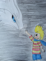 Lucas and Reshiram by BubbleIce720