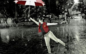 Claire Redfield Under the Rain by Aletheiia90