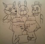 Armin and I play FNAF by GermanLunarPrincess
